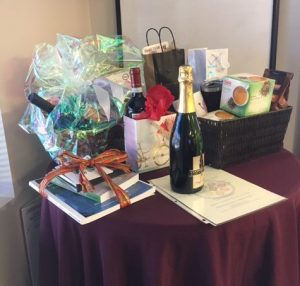 Caregiver luncheon door prizes