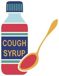 cough syrup & spoon