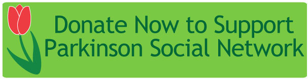 Parkinson Social Network donation banner